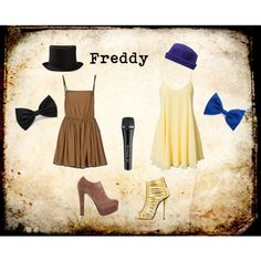 """Freddy Fazbear FNAF (+Gold)"" by ginger-girl1997 on Polyvore"