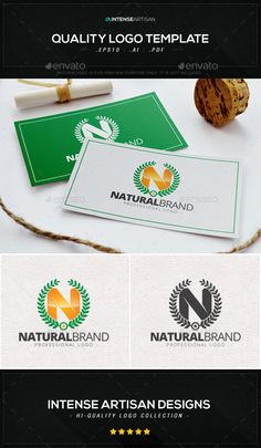 Natural Brand Logo Template — Vector EPS #object #creative logo • Available here → https://graphicriver.net/item/natural-brand-logo-template/8988506?ref=pxcr