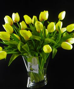 Real Touch Tulips Floral Arrangement by ForeverpetalNYC on Etsy