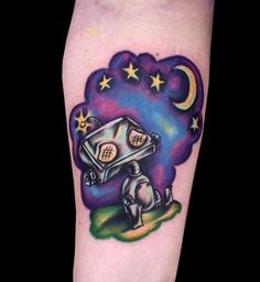 Sad Robot tattoo by Chris Hatch Tattoos and Stuff, via Flickr