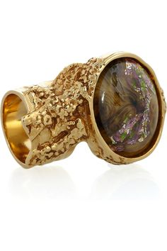 Love This Colour! Yves Saint Laurent - Arty gold-plated glass ring