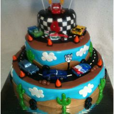 Cars 2 cake for Caleb's birthday