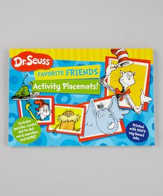Take a look at this Dr. Seuss Favorite Friends Place Mat Set by World Publications on #zulily today!