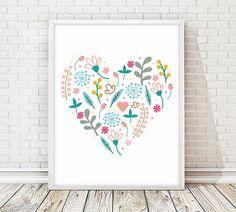 Lámina decorativa, lamina flores, cuadro flores, cuadros decorativos, laminas A4, laminas imprimibles, laminas corazón, cuadro corazón