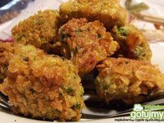 Brokuły w płatkach kukurydzianych. Świetnie smakują z sosem czosnkowym!