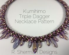 PDF TUTORIAL  Kumihimo Collar Necklace