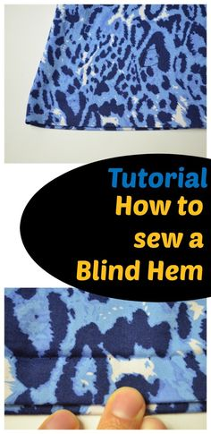 How to sew a blind hem Tutorial