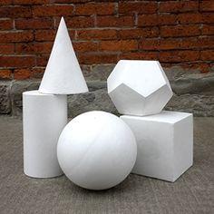 Plaster Castings - Set of Five Geometric Shapes