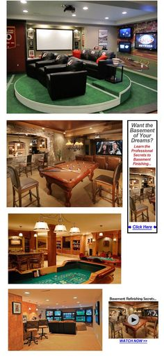 "34 Finished Basement ""Man Cave"" Design Ideas #mancave"