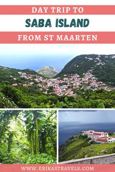 Traveling to St Maarten? Then don't miss the beautiful island of Saba (aka the Caribbean's Unspoiled Queen). Saba isn't your typical Caribbean island destination. It is wild, untouched, and lacking large hotels and resorts. But that is what makes it special. Little Island, Love Island, Green Scenery, Beautiful Islands, Day Trip, Hotels And Resorts, North America, Caribbean, Travel Tips