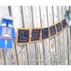 Star Wars NAME banner--includes 2 characters, your choice -- printed on glossy- put 2gether with metal eyelets --GREAT GIFT