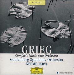 Grieg, Gothenburg Symphony Orchestra*, Neeme Järvi – Complete Music With Orchestra