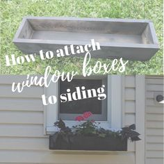 house flower boxes 70298444171181978 - How to Attach a Window Box to Siding – Source by Hanging Window Boxes, Wooden Window Boxes, Window Box Plants, Window Box Flowers, Window Planter Boxes, Window Box Diy, Diy Flower Boxes, Faux Window, Diy Planter Box