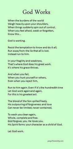 Pray and God will work Prayer Quotes, Spiritual Quotes, Faith Quotes, Bible Quotes, Faith Sayings, Power Of Prayer, Quotes About God, Words Of Encouragement, Christian Quotes