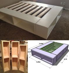 Bett selber bauen für ein individuelles Schlafzimmer-Design Bed itself-build-for-a-individual bedroom Design_diy-bed-with-storage space Related posts: Build your own bed for a custom bedroom design Fun DIY Projects for Teen Girls Bedroom