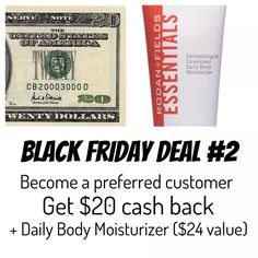 One of my Black Friday shopping deals: Two other offers available. This one is for free PC membership and an amazing, free Moisturizer from the creators of Rodan and Fields!  Check out my Facebook Page (https://www.facebook.com/reneerandfconsultant) or order online at:  https://reneesiemiet.myrandf.com/Pages/OurProducts/PCProgram