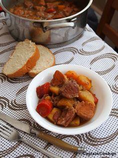 Captain Cook: Χοιρινό με Μπύρα και Λαχανικά Sweet Potato, Toast, Pork, Vegetables, Breakfast, Recipes, Foodies, Greek, Essen