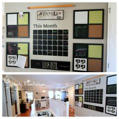 this family calendar center by SugarPea Designs: My Stamping Studio Family Organization Wall, Organization Station, Family Organizer, Office Organization, Bathroom Organization, Family Command Center, Command Centers, Craft Storage, Storage Ideas