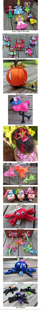 These insanely cute sculpted ribbon hair bows are created by SAHM Stuart Acrey, who, after making tons of bows for her daughter, Ellie, decided to sell her creations.