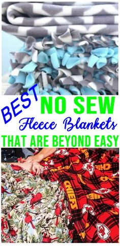 BEST & SIMPLE DIY No Sew Fleece Blankets! How To Make No Sew Fleece Blankets - Fun DIY Craft Projects For Kids For Adults! Make For Yourself or Give As Gifts! Easy Homemade Blankets The Whole Family and Friends Will Love and Want! Great Cozy and Warm Blanket DIYs!