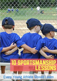 As soon as children start to play youth sports, they begin to learn the basics of sportsmanship - one of the best reasons for young children to participate in team sports. Good sportsmanship is about discipline, respect, self-control and playing by the rules. 10 Sportsmanship Lessons Every Young Athlete Should Learn http://www.active.com/parenting-and-family/articles/10-sportsmanship-lessons-every-young-athlete-should-learn#utm_sguid=131503,aca99e52-ac8e-652b-24dc-a554401c7ef9