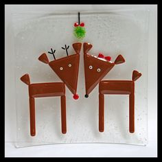 Glassworks Northwest  Reindeer Love  Fused by glassworksnorthwest, $50.00