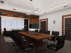 Executive Director Office & Conference Room: Complete Interior Design Concept: Space Planning, CAD Design, 3D Visualizationwww.strictdesign.eu