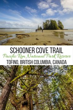 The scenic Schooner Cove Trail winds through the Pacific Rim National Park Reserve near Tofino, British Columbia and is the perfect place for photography. Cool Places To Visit, Places To Travel, Travel Destinations, Travel Stuff, Quebec, Montreal, Toronto, Canadian Travel, Vancouver Island
