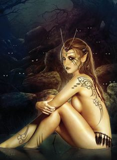 Forest elf by Jose del Nido Fantasy Art Village Social Network for Fantasy, Pinup, and Erotic Art Lovers! Fantasy Women, Fantasy Girl, Dark Fantasy, Female Elf, Forest Elf, Wolf, Art Village, Elves And Fairies, Luis Royo