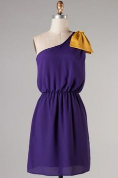 Purple  Gold Gameday Dress