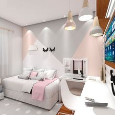 More girl room created with a lot of moderno modern design love has Plus chambre de fille cr avec beaucoup d 39 amour moderno design moderne a More girl room created with a lot of moderno modern design love with Living Room with much room created love Girls Room Paint, Girls Room Design, Girl Bedroom Walls, Girl Bedroom Designs, Bedroom Decor, Bedroom Themes, Girls Bedroom Ideas Paint, Wall Decor, Bedroom Wall Ideas For Teens