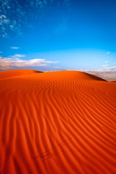 Wow! Red sand dune with ripple and blue sky, Mildura, Australia by Oat Vaiyaboon / 500px