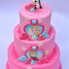 Frozen Birthday Party, 4th Birthday, Birthday Cake, Frozen Cake, Pink, Keto, Food, 4th Anniversary, Birthday Cakes