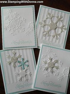 Pool Party Snowflake Christmas Cards by Cindy Whitaker
