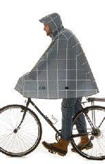 Cleverhood cycling rain cape: Electric Gingham