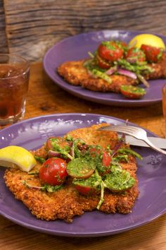 Whip up this chicken milanese everything-style, which pairs perfectly with a simple tomato, basil, and bitter greens raw sauce.