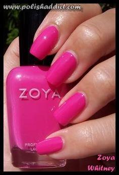Zoya Whitney pink nail polish.