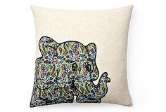 Elephant Pillow, Natural/Multi on OneKingsLane.com