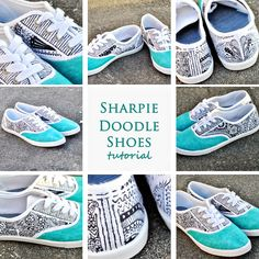 Turn your plain canvas shoes into interesting show stoppers with a sharpie...sharpie doodle shoes!
