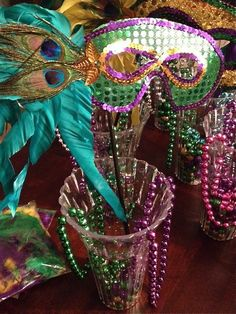 Mardi Gras Handmade Feather Mask