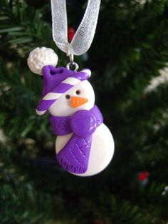 Polymer Clay Christmas Ornament Large by Emariecreations on Etsy, $8.50