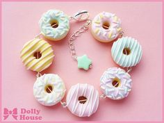 Dolly House: Pastel Doughnuts bracelet