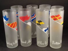 Barware Collection - LIBBEY - NAUTICAL FLAG - TOM COLLINS