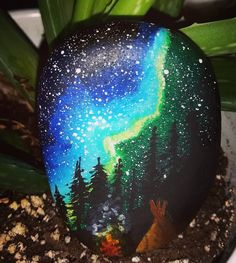 A starry night sky! Starry Night Sky, Night Skies, Stone Painting, Rock Painting, Night Time, Rock Art, Painted Rocks, Art Projects, Christmas Bulbs
