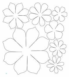 Paper Flower Patterns, Paper Flowers Craft, Crepe Paper Flowers, Felt Flowers, Flower Crafts, Diy Flowers, Fabric Flowers, Flower Petal Template, Leaf Template