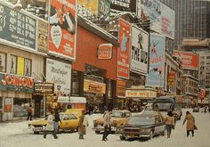 TIMES SQUARE 1978 Snowstorm Vintage New York City by Christian Montone, via Flickr