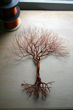 Medium Tree 17 x 15 made from copper wire. by TwistedForest
