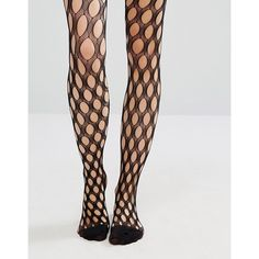 08e065396f236 ASOS Large Hole Fishnet Tights ($4.56) ❤ liked on Polyvore featuring  intimates, hosiery, tights, fishnet, black, asos tights, fishnet tights,  fishnet ...