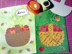 Illustration d'un poème sur les pommes du verger.