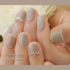 Gel Nail Designs You Should Try Out – Your Beautiful Nails Grey Nail Designs, Beautiful Nail Designs, Korean Nail Art, Korean Nails, Uñas Fashion, Japanese Nail Art, Elegant Nails, Bridal Nails, Wedding Manicure
